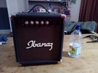 Ibanez Acoustic Amplifier IBZ10A. Little to no use.
