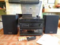 Panasonic Record Player, Music System with Speakers
