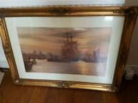 Picture of boat in gold frame