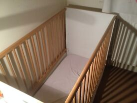 Wooden Baby cot white