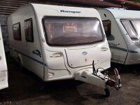 2006 Bailey Ranger 470 4 Berth End Washroom Side Dinette Lightweight Caravan