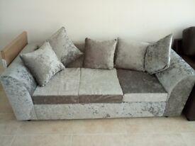 Sofa crush valvet 3 plus 2 seats