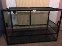 Large Komodo glass and mesh Vivarium