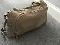 Pacapod leather changing bag - Firenze in putty