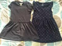 2x H&M Basics Girls Dresses 2-4 Years