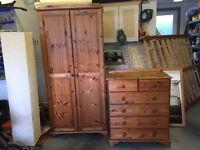 Pine bedroom set - great deal!