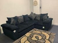 Beautiful black ex display corner sofa delivery 🚚 sofa suite couch furniture