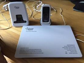 Tommee tippee baby monitor and movement sensor pad.