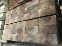Wooden railways sleepers pressure treated