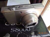 Nikon S8000 digital camera silver