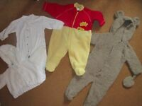 Baby clothes, suit boy or girl, 0-9 months, 70 items.
