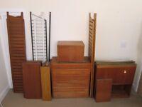 Vintage Retro Staples Ladderax Shelving Furniture