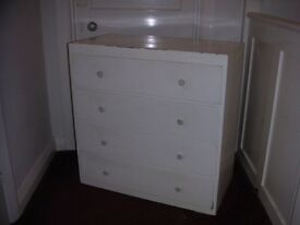 White Four Drawer Chest of Drawers