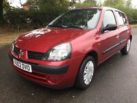 RENAULT CLIO 1.2 FULL SERVICE HISTORY 1 OWNER 76,643 MILES