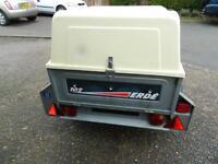 Erde tipping trailer + locking hardtop/spare wheel