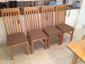 4 Next Highback Dining Chairs