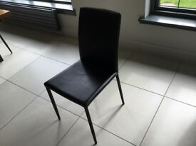 Pair black dining chairs - boxed never used
