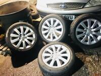 Audi alloys 17 shpock 4 x with tyres