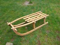 Vintage wooden German sledge