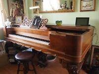 Piano victorien Chickering circa 1840 - Grand square piano