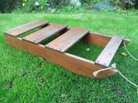 3ft wooden traditional sturdy sledge toboggan