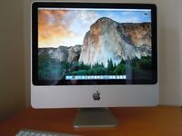 Apple iMac 20 inch all in one computer 2.4GHz Intel core 2 duo 4Gb RAM