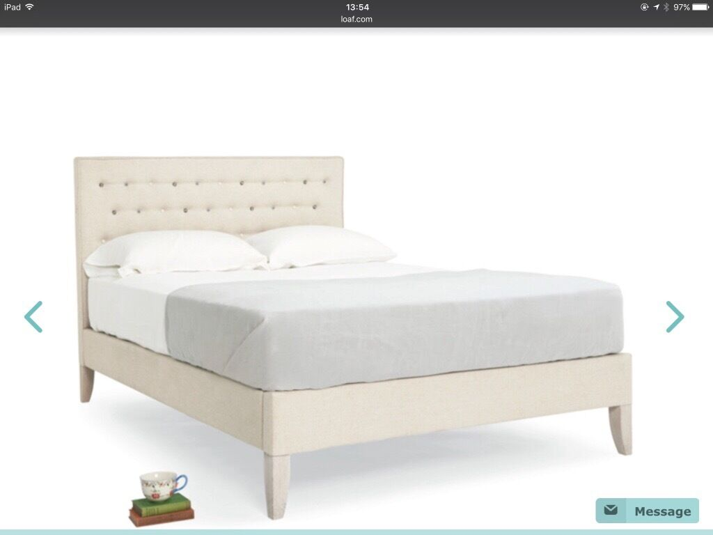 outlet store 82a0a cd88f King size Bed frame. Upholstered Headboard and sides. From ...