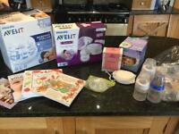 Breast pump, steriliser, breastfeeding accessories