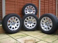 4 x BMW Alloys and winter tyres
