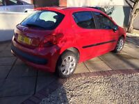 Peugeot 207,56 plate, Red, 60,000, 5 Door . Cheap/first car/reliable (open to offers)