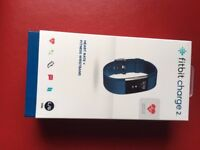 Brand New Fitbit Charge 2 - Blue, Large
