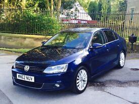 2012 62 Volkswagen Jetta 2.0 Tdi Sport 140bhp DSG Blue *SAT NAV* **LEATHERS** Passat Audi A4 A3
