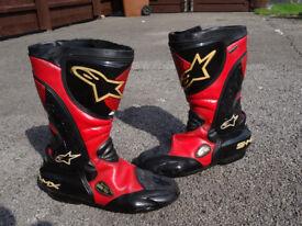 Alpinestars Goretex Motorcycle Boots Size Euro 43 UK 8 9