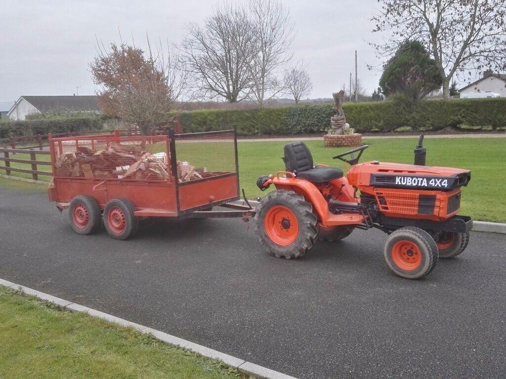 Kubota tractor & trailer diesel not digger ford JCB bobcat suit landscape gardener