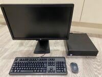 HP ProDesk SFF Desktop PC Intel i3 8100 CPU, 256GB SSD, 8GB RAM with 23inch Full HD LED monitor
