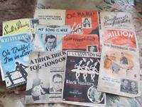 Music Hall Sheet music - multiple originals.