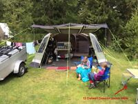 Outwell Vermont XLP 7 man tent plus loads of camping gear