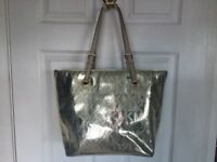 Genuine Michael Kors Matallic pale gold tote bag