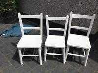 3 KIDS WOODEN CHAIRS