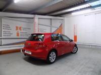 Volkswagen Golf SE TSI BLUEMOTION TECHNOLOGY DSG (red) 2014-09-30