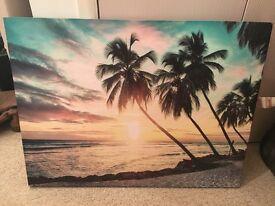Beach Scene Canvas Print - large