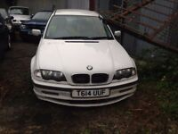 BMW 318 SE WHITE REPARE OR SPARE STARTS AND DRIVE BUT NEEDS A COIL SPRING