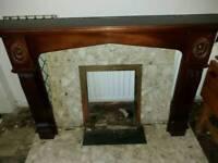 Mahogany marble fireplace