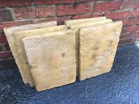 "6 Sandstone style paving slabs 18"" x 12"" (45cm x 30cm)"