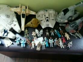 Large amount of Star wars gear vintage apart from the tie fighter