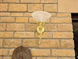Elegant gold conservatory wall light