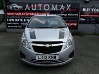 12 plate Chevrolet Spark Plus 1ltr 5dr hatchback only 29k £30 a yr road tax