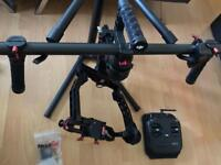 DJI Ronin (R1) with CineMilled arm and pan arm extensions installed