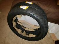 Pair of new motorcycle tyres