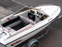Fletcher Bravo GTO - 16ft Speedboat, 90HP engine and braked road trailer